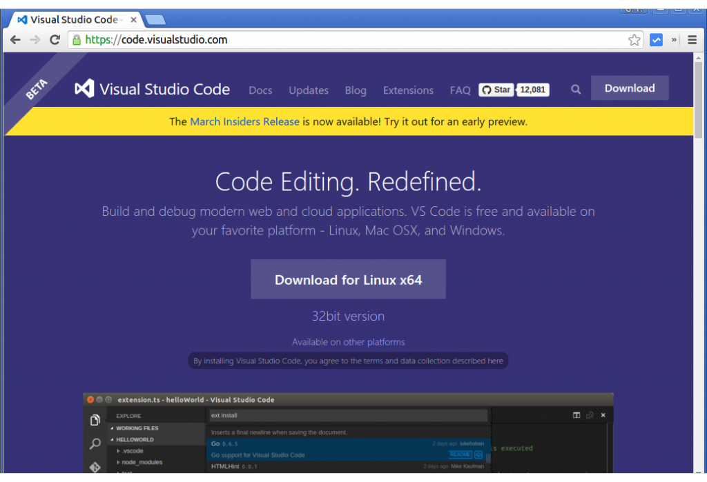 linux-install-and-use-visual-studio-code-ide-1